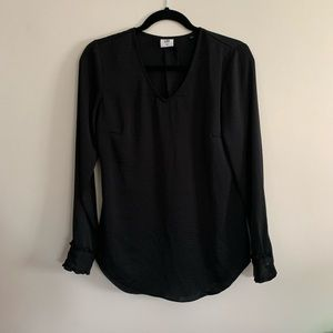 Cabi Women's XS Black Long Sleeve Blouse V-Neck